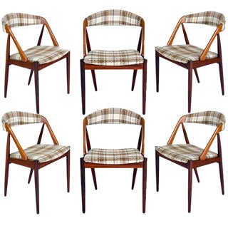 Set Of 6 Rosewood Kai Kristiansen Dining Chairs For Sale