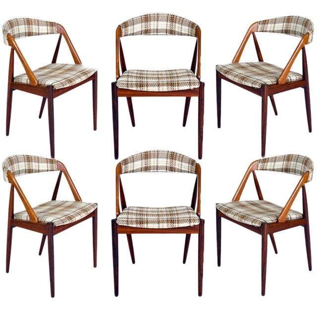 Set Of 6 Rosewood Kai Kristiansen Dining Chairs - Image 1 of 10