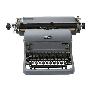 Gray Royal Industrial Typewriter