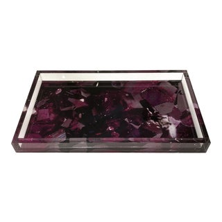 Lucite Tray With Color Infusion, Dwm| Maloos Bixbite Image Red Beryl Tray For Sale