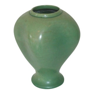 Red Wing Green Ceramic Vase For Sale