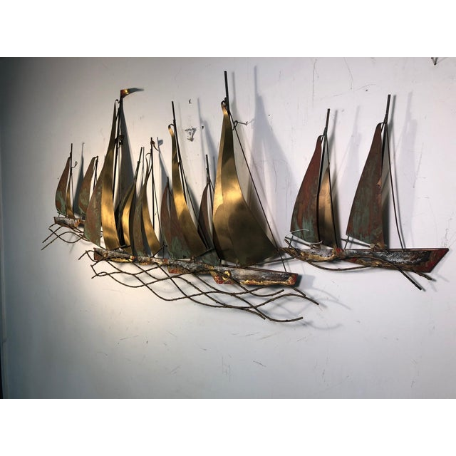 1970s Large Scale Boat Wall Sculpture by Curtis Jere For Sale - Image 9 of 9