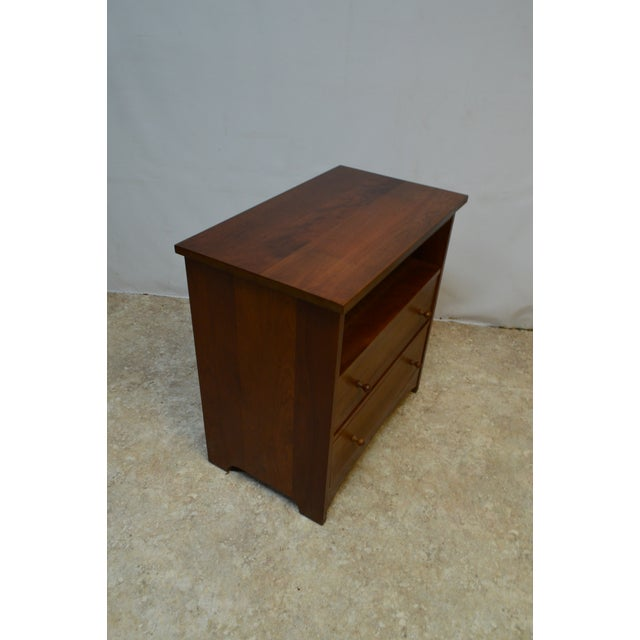 High quality. Two dovetailed drawers. Stickley Bedside End Side Lamp Table Nightstand Model #91 1125