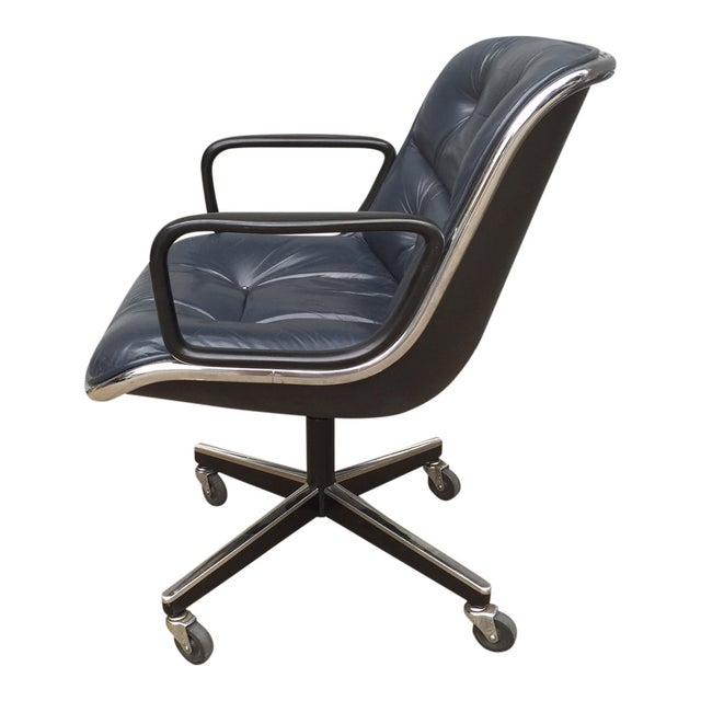 Charles Pollock for Knoll Blue Office Chair - Image 7 of 7