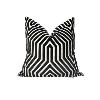 Contemporary Vanderbilt Pillow Cover in Noir Black For Sale