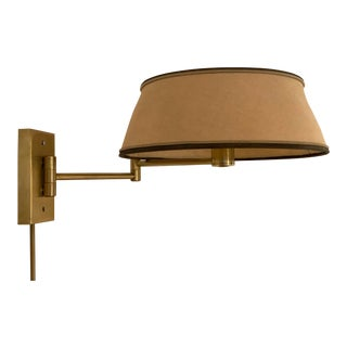 1960's Nessen Brass Swing Arm Wall Lamp For Sale