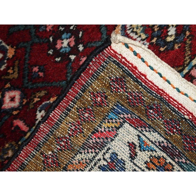 Vintage Persian Hamadan Runner- 2′7″ × 7′ For Sale - Image 4 of 10