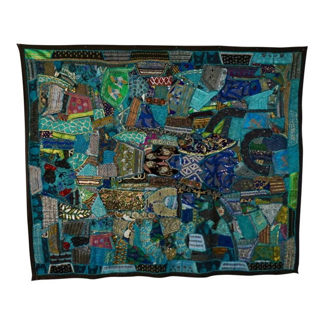 1960's Boho Patchwork Tapestry For Sale