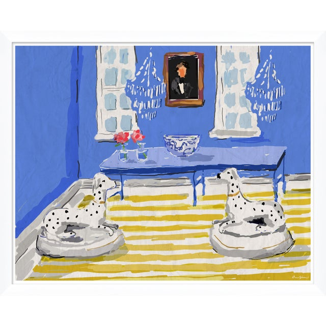 """Contemporary """"Blue Dog"""" By Dana Gibson, Framed Art Print For Sale - Image 3 of 3"""