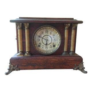 Antique Seth Thomas Four Column Mantel Clock For Sale