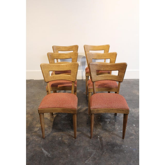 "Mid-Century Modern Heywood Wakefield ""Dog-Bone"" Dining Chairs - Set of 6 - Image 2 of 11"