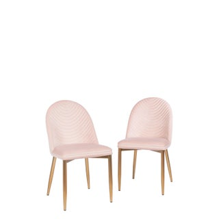 Blush Wave Upholstered Dining Chair Preview