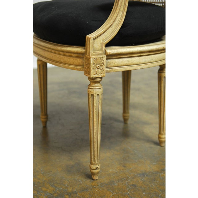Louis XVI Style Cane Fauteuil Armchairs - Set of 5 For Sale - Image 10 of 10