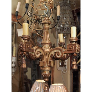18th Century Italian Small Gilt Wood Chandelier Preview