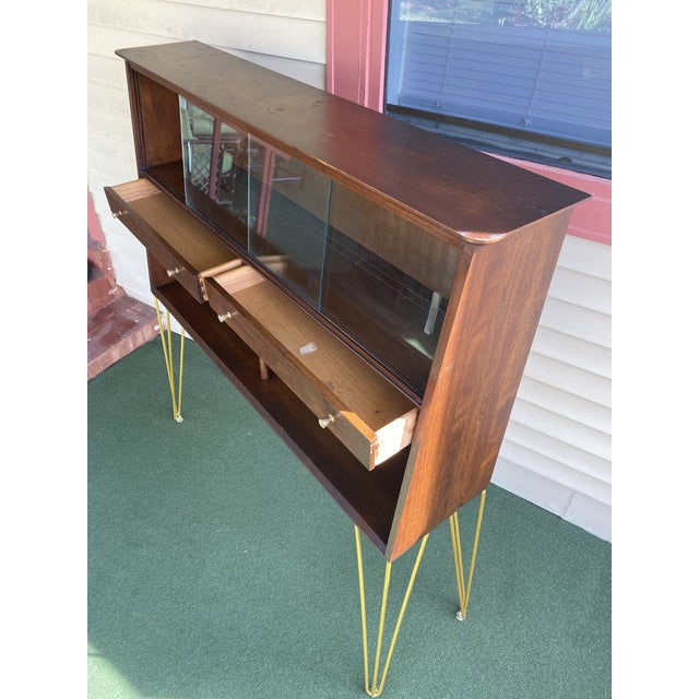 Mid Century Modern Hairpin Cabinet For Sale In Tampa - Image 6 of 7