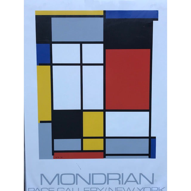 """1970s Vintage Mondrian """"The Process Works"""" Original Pace Gallery, New York Poster For Sale - Image 4 of 6"""