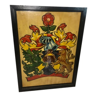 English Royal Crest Two Sided Pub Sign For Sale