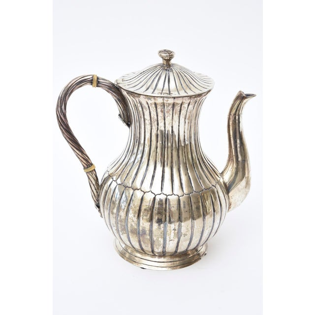 Mid-Century Modern Sterling Silver Hallmarked Sanborn Tea/Coffee Service For Sale - Image 3 of 10