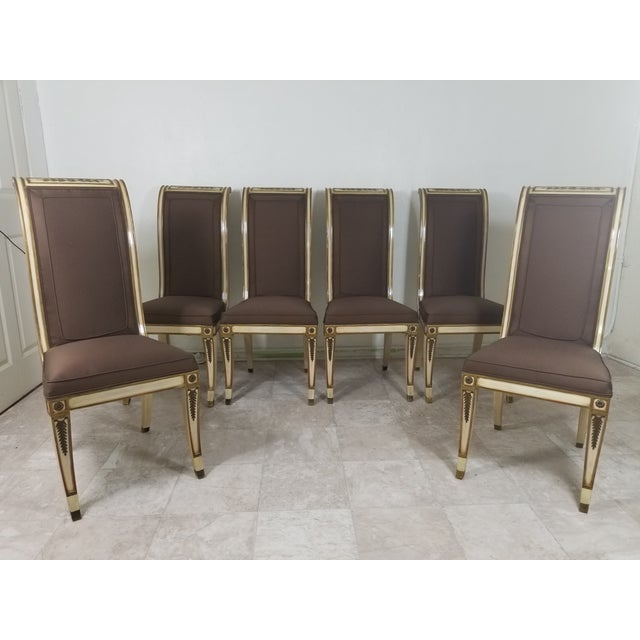 1940s Vintage Hollywood Regency Dining Chairs- 6 Pieces For Sale - Image 13 of 13