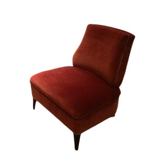 Truex American Furniture Red '21' Slipper Chair