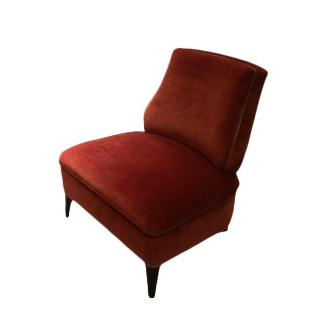 Truex American Furniture Red '21' Slipper Chair - Image 1 of 4