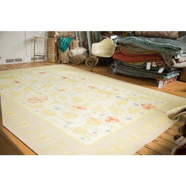 """Vintage Minimalist Dhurrie Carpet - 8'9"""" X 11'10"""" - Image 2 of 10"""