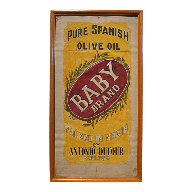 Olive Oil Label Graphic Illustration Board For Sale