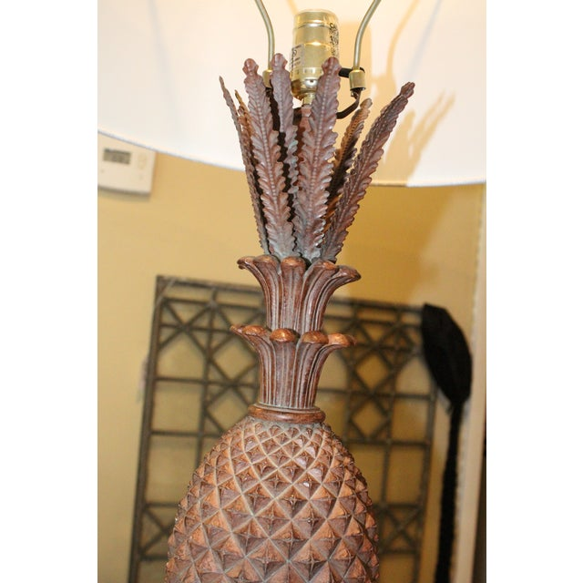 Pineapple Lamps - a Pair For Sale In New York - Image 6 of 7