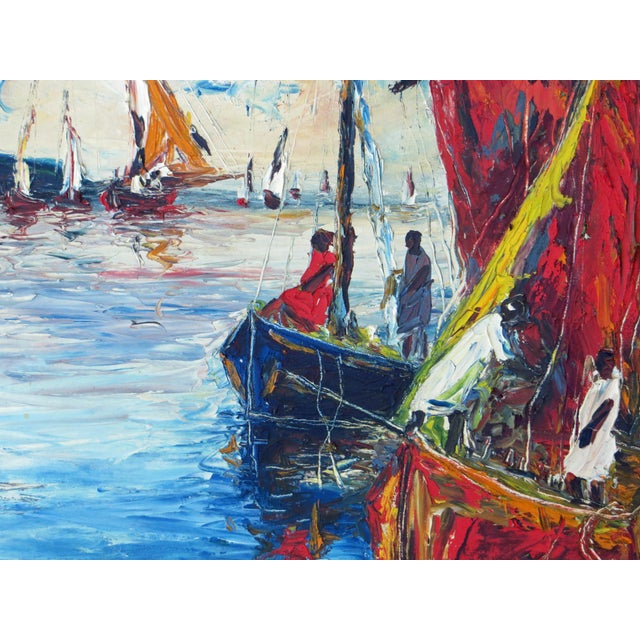 Raoul Viard Haitian Modernist Oil Painting For Sale - Image 5 of 7