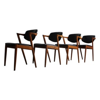 Kai Kristiansen Teak Chairs, No. 42 - Set of 4