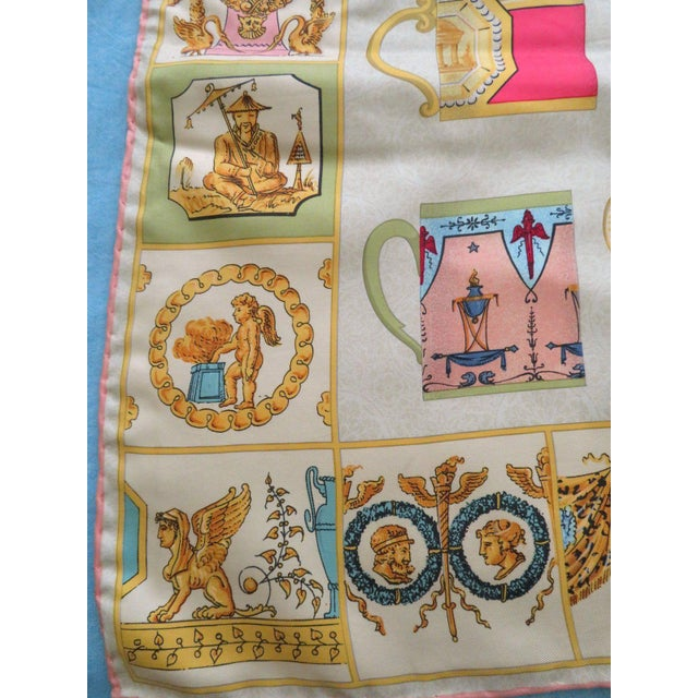 """1980s Vintage Gucci """"High Tea"""" Silk Scarf For Sale - Image 5 of 9"""