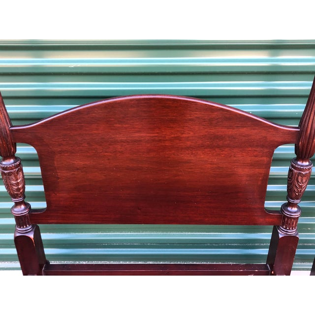 Solid Mahogany Acorn Top Twin Beds- a Pair For Sale - Image 12 of 13