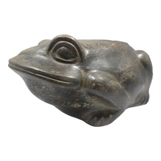 Authentic Pre Columbian Blackware Moche Frog Vessel From Major Auction House For Sale