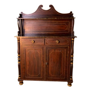 Antique 19th Century English Regency Two Door Cabinet For Sale