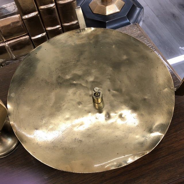 Large Vintage Brass Scale With Weights For Sale - Image 11 of 12