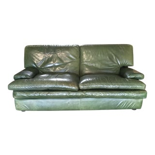 French Roche-Bobois Leather Sofa
