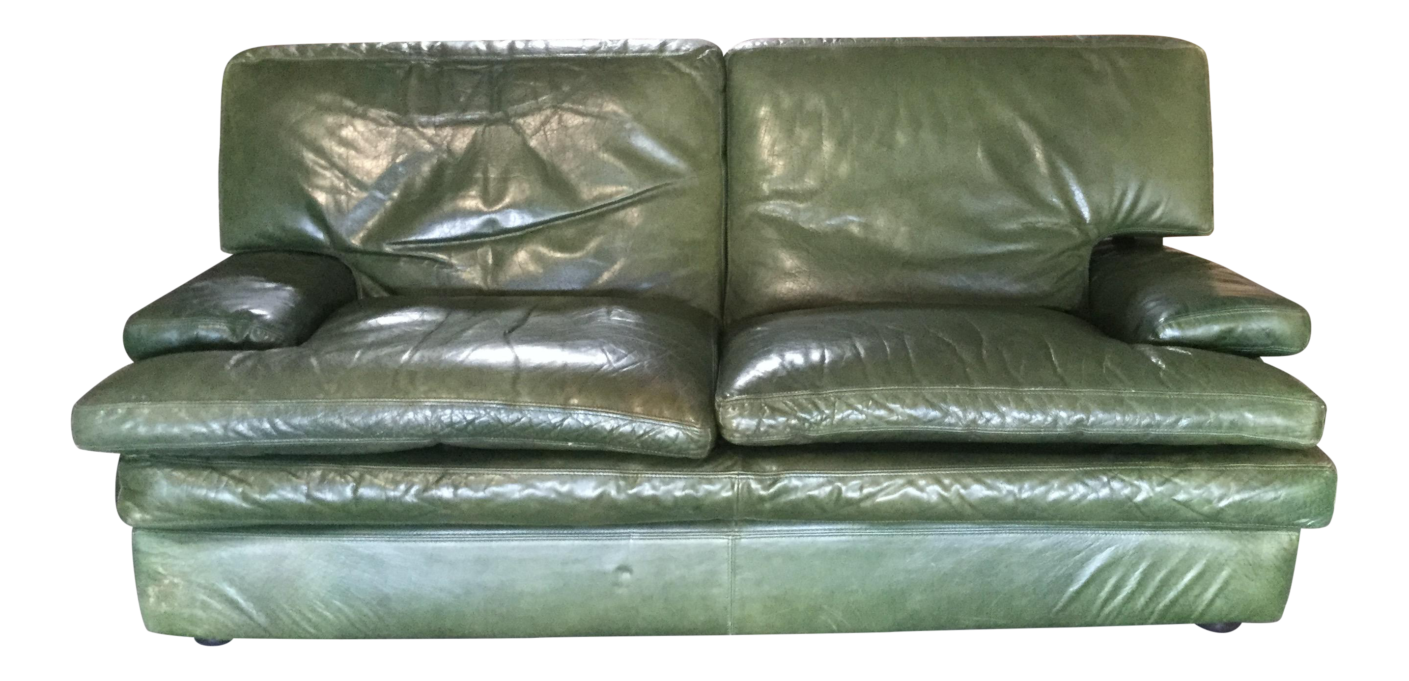 French Roche Bobois Leather Sofa