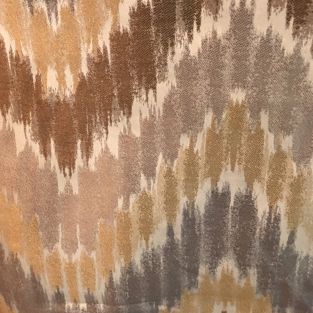 Contemporary Gray, Golden & Brown Fabric - 1.5 Yards For Sale - Image 3 of 6