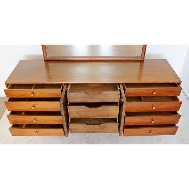 Kipp Stewart 1960sMid-Century Modern Kipp Stewart for Drexel Declaration Walnut Dresser Credenza For Sale - Image 4 of 8