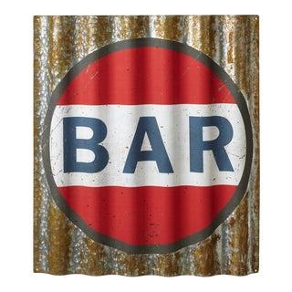 Rustic Galvanzied Bar Sign