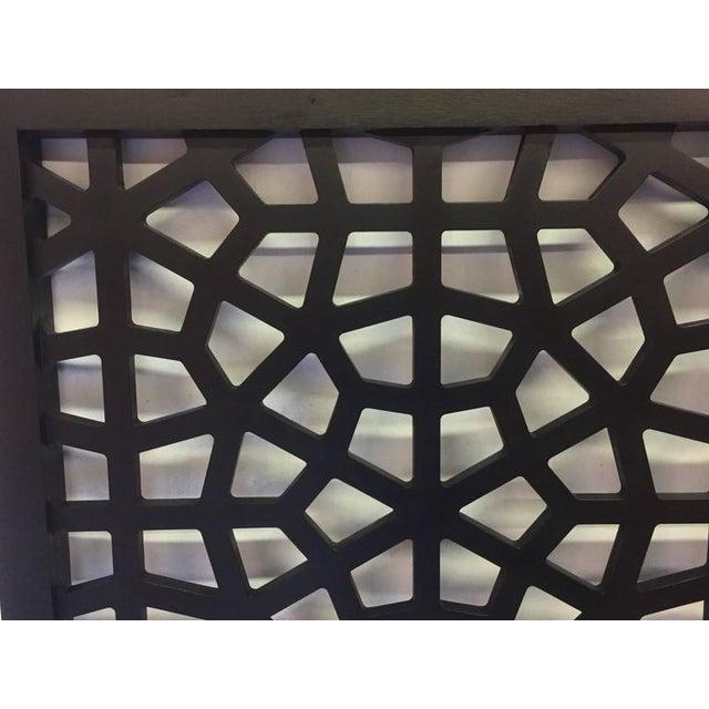 Black Wooden Latticework Headboard - Image 3 of 5