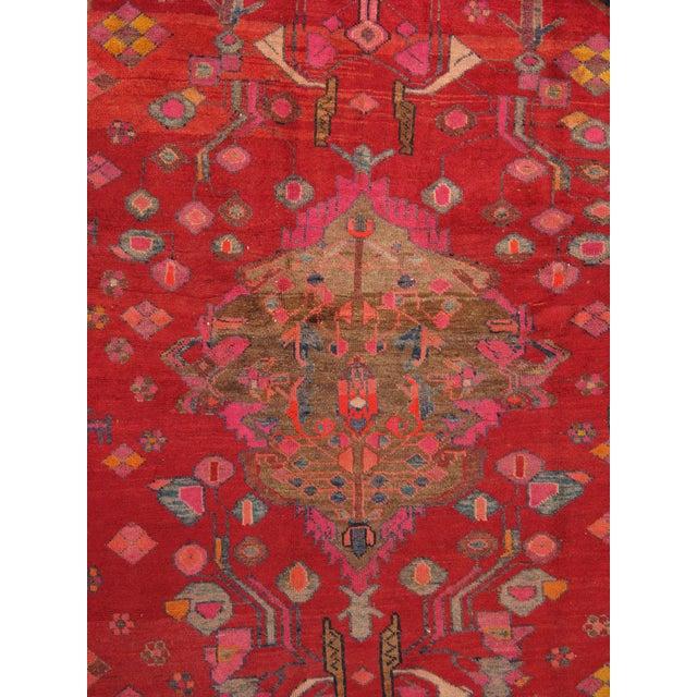 """Vintage Hamadan Wool Area Rug- 5' 5"""" x 8' 5"""" - Image 2 of 3"""
