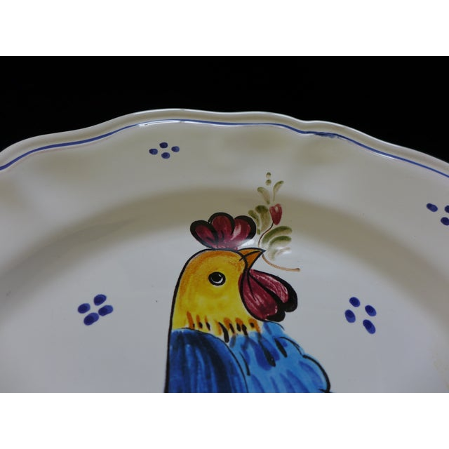 Decorative Italian Ceramic Plate With Rooster For Sale - Image 9 of 9