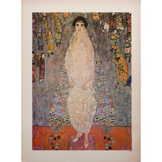 "1964 Gustav Klimt, ""Portrait of Baroness Elisabeth Bachofen-Echt"" Large Photogravure For Sale"