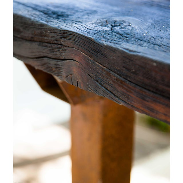 Wabi-Sabi Yakisugi Wood Dining Island Table Console For Sale - Image 11 of 11