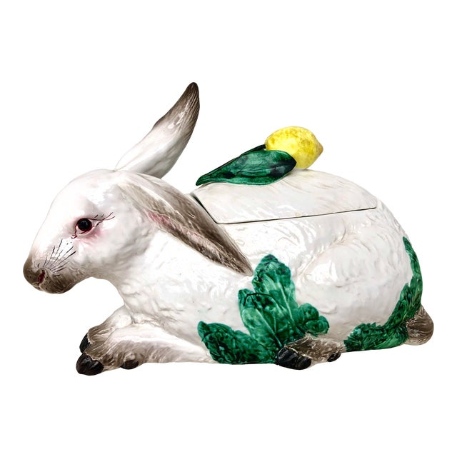 Late 20th Century Italian Vintage Bunny Lidded Tureen. For Sale