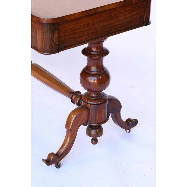 Metal Antique English Console Table With Two Drawers For Sale - Image 7 of 13