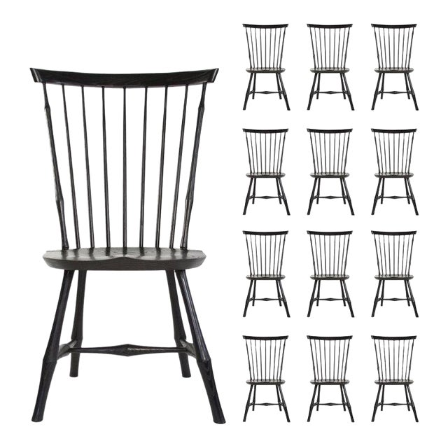 O & G Studio Windsor Dining Chair in Ebony, 25+ Available For Sale