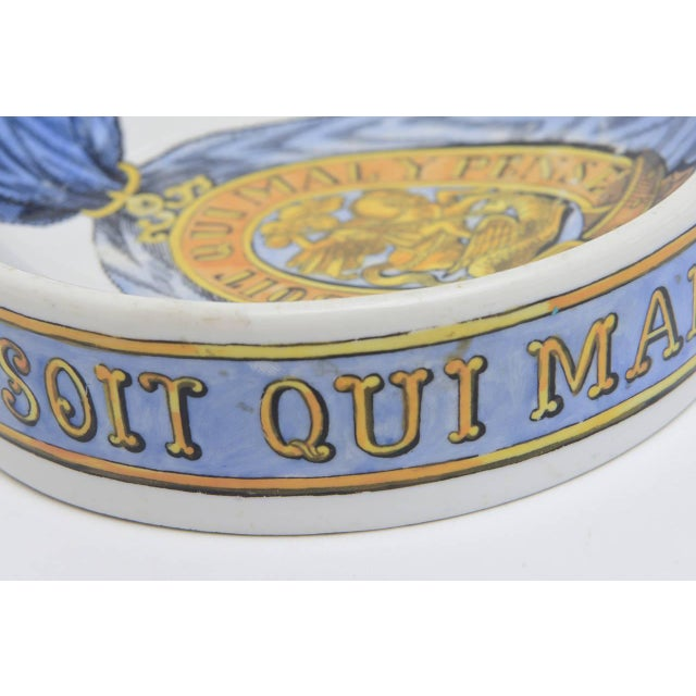 Fornasetti Hallmarked Gilded Porcelain Buckle Bowl or Dish For Sale In Miami - Image 6 of 9