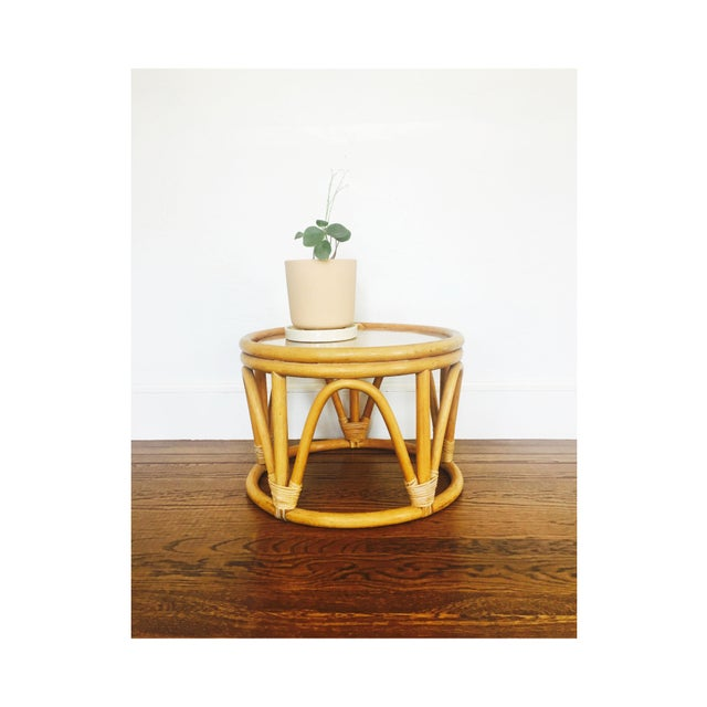 Vintage Bent Bamboo Side Table - Image 3 of 6